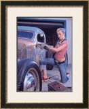 Ford Chop Top Workshop Pin up Poster Framed Giclee Print by David Perry