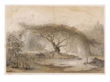 A Wood Near Tadjoura; Animals Watering at a Pool Giclee Print