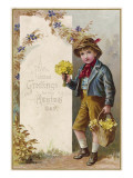 Boy Selling Flowers Giclee Print