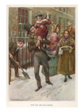 Bob Cratchit and Tiny Tim Giclee Print