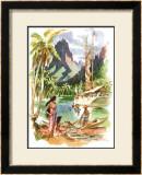 Tahiti Framed Giclee Print by Louis Macouillard