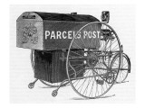 A Royal Mail Parcels Post Delivery Tricycle Giclee Print