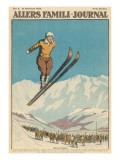 At St Moritz, Switzerland Giclee Print