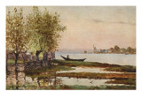 Peaceful Morning Scene on the Don River, Russia, Giclee Print