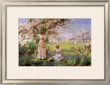 Spring, Picking Flowers Prints by Alfred Augustus Glendenning