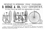 Advertisement for Cycles and Tricycles by D. Rudge and Co Giclee Print