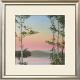 Cooper Sunset Birches Poster by Elissa Gore