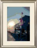 Pier, Venice Beach, California Framed Giclee Print by Steve Ash