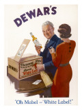 An Advertisement for Dewar's White Label Whisky Giclee Print