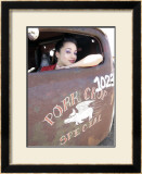 Truck Pin-Up Girl Framed Giclee Print by David Perry