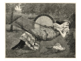 A Young Woman Sleeps in a Hammock in the Garden on a Warm Afternoon Giclee Print