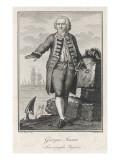 Baron George Anson British Naval Commander and Circumnavigator, Giclee Print
