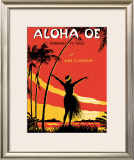 Aloha Oe Music Sheet Framed Giclee Print by  LeMorgan