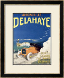 Auto Delahaye Framed Giclee Print by Pierre Andry-Farcy