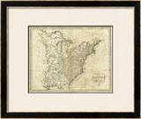 Map of the United States of America, c.1796 Framed Giclee Print by John Reid