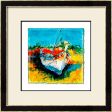 Boat from Algarve I Prints by Hans Oosterban