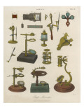 A Selection of 'single' Microscopes Giclee Print