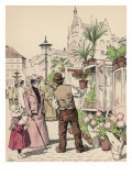 At the Flower Market, Copenhagen, Denmark Giclee Print