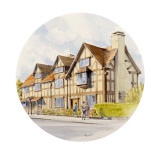 A Painting by Malcolm Greensmith of Shakespeare's Birthplace Giclee Print by Malcolm Greensmith