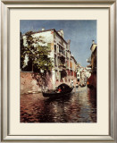 Venetian Gondola Print by Rubens Santoro