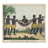 Well-To-Do Person of Angola is Carried in a Four-Man Litter, Angola, Giclee Print