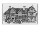 An Elizabethan Timber-Framed House Giclee Print by Philip Talmage