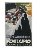 A Poster for the Monte Carlo Rally of January 1930 Giclee Print