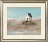 Beach Cabins II Prints by Jean Jauneau