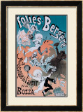 Folies Bergeres Framed Giclee Print by Jules Chéret