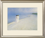 Summer Afternoon on Skagen Beach Art by Peder Severin Kr&#246;yer
