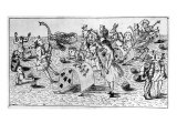 Alice's Adventures Underground: the Croquet Game Giclee Print