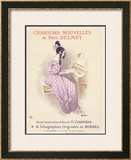 Chansons Nouvelles Piano Song Framed Giclee Print by  Roedel