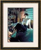 Pin-Up Girl: Anchor Tattoo Sailor Framed Giclee Print by David Perry