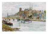 Angers, Viewed from across the River Giclee Print