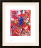 The Red Flowers Posters by Marc Chagall