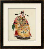Emperor in Yellow Kimono Prints