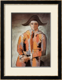 Harlequin with Folded Hands, c.1923 Poster by Pablo Picasso