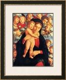 La Vierge et l'Enfant avec les Cherubins Posters by Andrea Mantegna