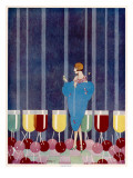 Cocktails by Baird Giclee Print