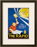The Rapid Framed Giclee Print by R. Dion