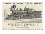 Baldwin Locomotoive Constructed by Burnham, Parry, Williams and Co, Philadelphia Giclee Print