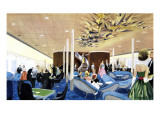 Canberra: the First Class Lounge Giclee Print