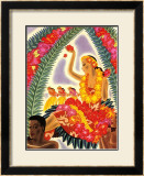 Hula and Lei Framed Giclee Print by Frank Mcintosh
