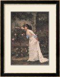 Girl and Roses Art by Auguste Toulmouche