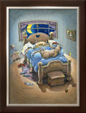 Bed Hogs Framed Giclee Print by Gary Patterson