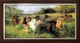 Colt Hunting in the New Forest Prints by Lucy Elizabeth Kemp-Welch