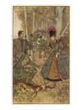 Elizabethan Hunting Giclee Print by Philip Talmage