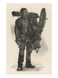 Climbing Chimney Sweep Giclee Print
