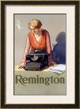 Remington Typewriter Framed Giclee Print by Reinhard Hoffmuller