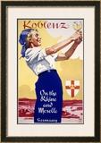 Koblenz German Rhein Framed Giclee Print by Ludwig Hohlwein
